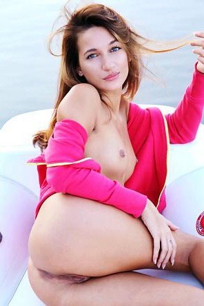 Sexy Kenya Naked On A Boat